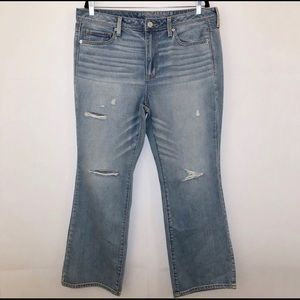 American Eagle Vintage Destroy Boot Jeans 14 Short